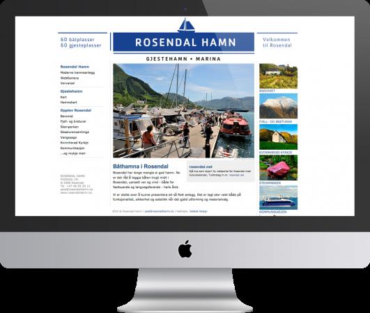 Nettside  til  Rosendal  hamn