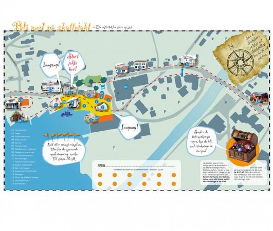Skattejakt kart til Mat og kunstfestivalen 2012